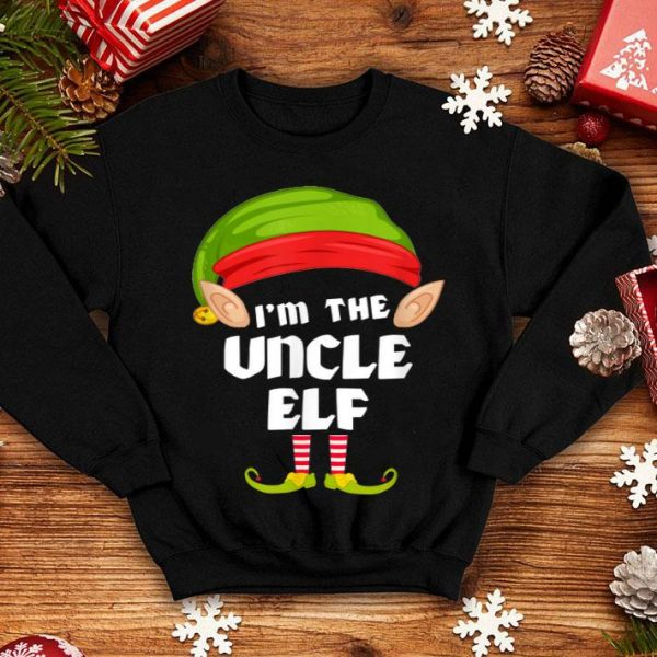 Awesome Funny Uncle Elf Matching Family Group PJ Christmas sweater