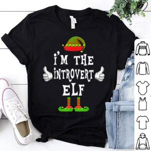 Awesome I'm The Introvert Elf Matching Family Funny Christmas Gift shirt