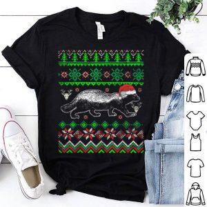 Awesome Ugly Christmas Honey Badger shirt