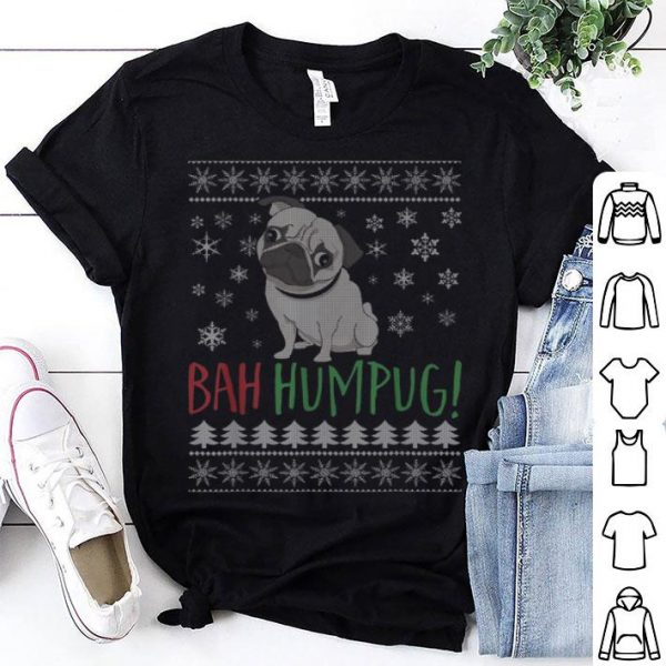 Beautiful Bah Humpug! Christmas Pug Lovers sweater