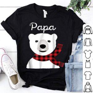 Beautiful Family Matching Christmas Buffalo Plaid Papa Bear Gift shirt