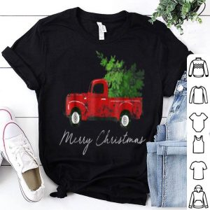 Beautiful Vintage Christmas Classic Truck with Snow and Tree shirt