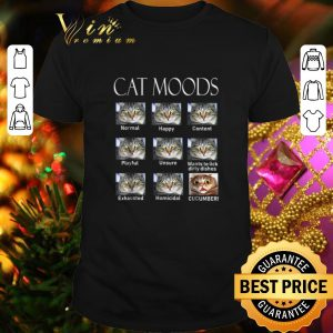 Cheap Cat moods feelings face normal happy content playful unsure shirt