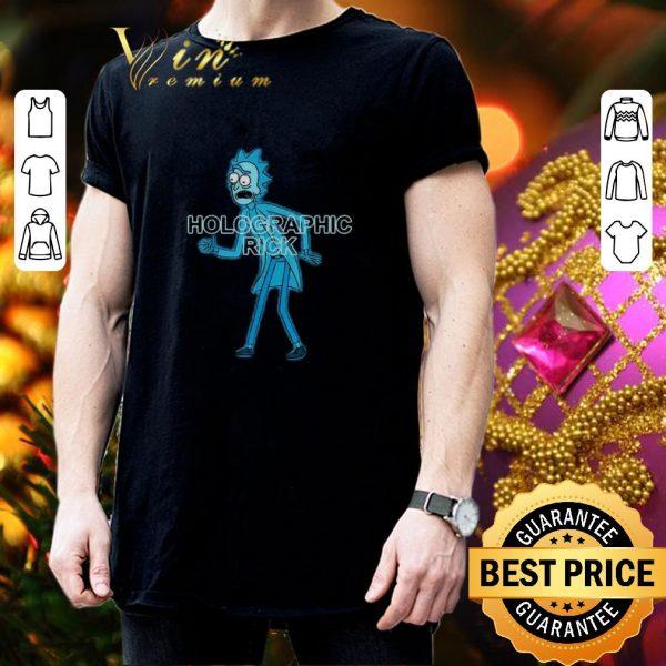 Cheap Rick and Morty Holographic Rick shirt