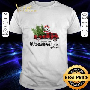 Funny Snoopy Truck It's The Most Wonderful Time Of The Year Christmas shirt