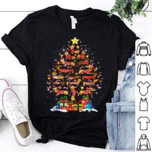 Hot Dachshund With Christmas Tree For Men Women Kids shirt
