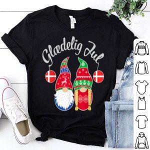 Hot Glaedelig Jul Danish Merry Christmas Denmark Nisse sweater