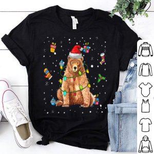 Nice Bear Lights with Santa Hat Christmas Pajamas Funny Gifts shirt