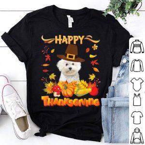 Nice Happy Thanksgiving Bichons Frise Dog I'm Thankful For My shirt