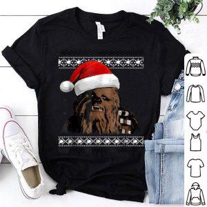 Nice Star Wars Chewie Santa Hat Ugly Christmas Sweater shirt