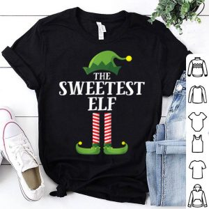 Nice Sweetest Elf Matching Family Group Christmas Party Pajama shirt
