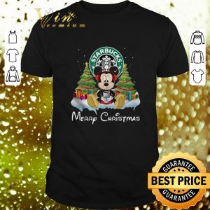 Official Mickey Mouse drink Starbucks Merry Christmas shirt