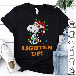 Official Peanuts Snoopy Christmas Lighten Up shirt