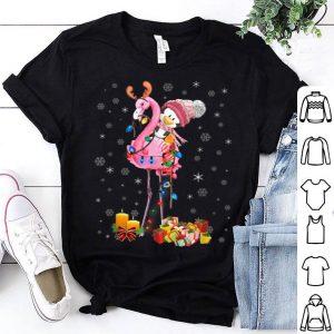 Official Penguin Riding Flamingo Christmas Pajamas Funny Xmas Gifts shirt