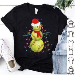 Official Softball and snowman - Softball Christmas shirt