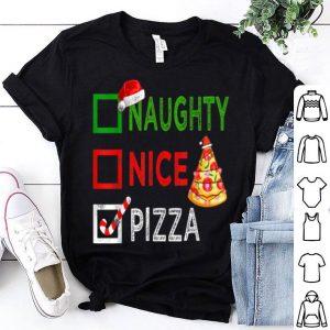 Original Naughty nice Pizza Funny Christmas Santa Gift Xmas Ugly shirt