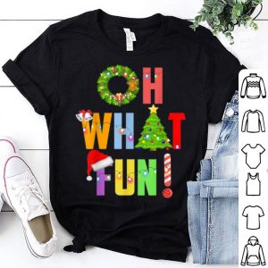 Original OH WHAT FUN Funny Christmas Xmas Holiday Party Santa Gift shirt