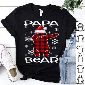 Original Papa Bear Pajama Dabbing Hat Santa Christmas Family Ugly shirt