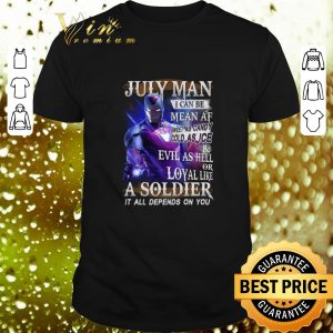 Premium Iron Man July Man I can be mean AF sweet as candy cold as ice shirt