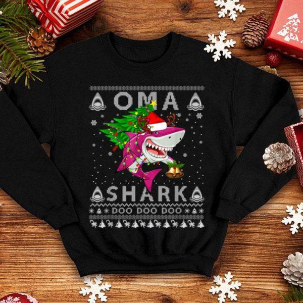 Premium Oma Shark Santa Christmas Family Matching Pajamas shirt