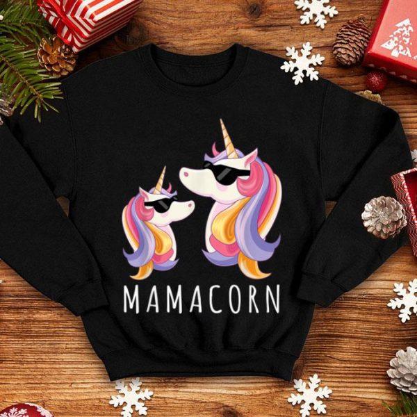 Pretty Funny Mamacorn Gift Mama Unicorn Mom and Baby Christmas shirt
