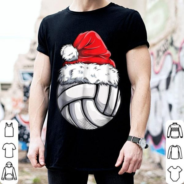Pretty Volleyball Ball Santa Christmas Girls Xmas Hat Sport shirt
