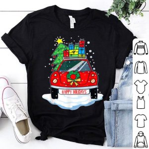 Top Christmas Red Car With Presents Happy Holidays Gift shirt