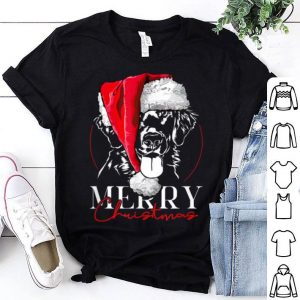 Top Funny Santa Flat Coated Retriever Merry Christmas gift dog shirt