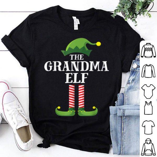 Top Grandma Elf Matching Family Group Christmas Party Pajama shirt