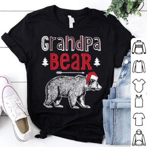 Top Grandpa Bear Christmas Santa Family Matching Pajamas shirt