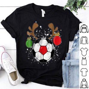 Top Reindeer Soccer Christmas Rednose Pajama shirt