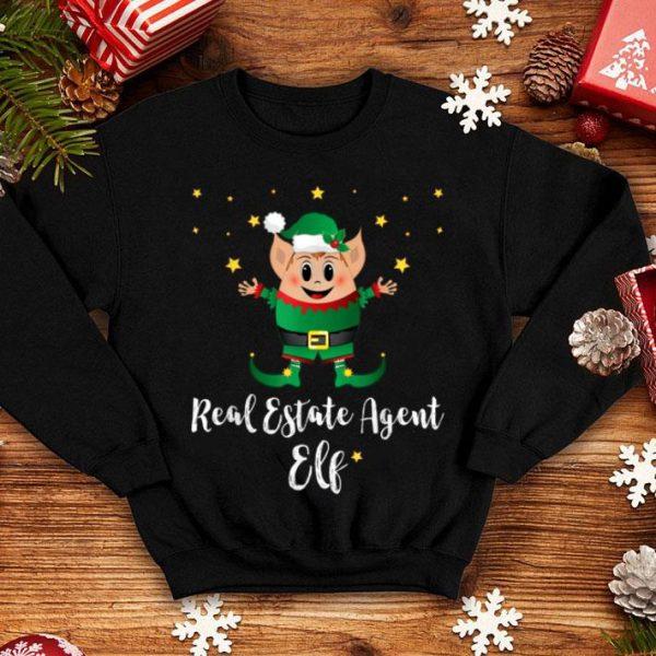 Beautiful Real Estate Agent Elf Realtor Xmas Matching Group Christmas sweater
