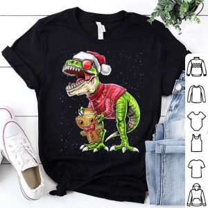 Beautiful Ugly Christmas Dinosaur Gingerbread Man Cookie Gift for Kids sweater
