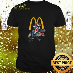 Cheap Mcdonald's Unicorn dabbing riding T-Rex dinosaur shirt