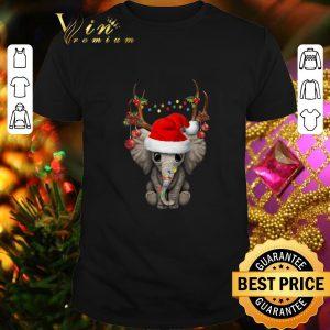 Cheap Santa elephant reindeer Christmas shirt