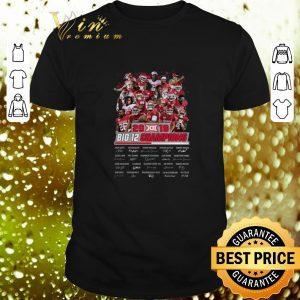 Funny Oklahoma Sooners 2019 Big 12 Champions all signature shirt