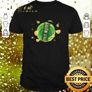 Funny Rick and Morty Cross Pringles Pickle Rick shirt