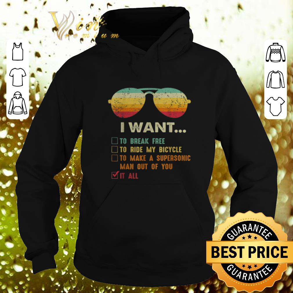 Funny Sunglass i want to break free to ride my bicycle it all vintage shirt 4 - Funny Sunglass i want to break free to ride my bicycle it all vintage shirt