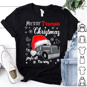 Merry Trucking Christmas Truck Driver Jingle All The Way Tee sweater