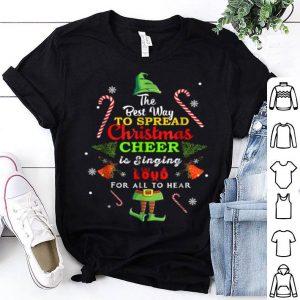 Nice Spread christmas cheer is singing loud xmas Elf pajama sweater