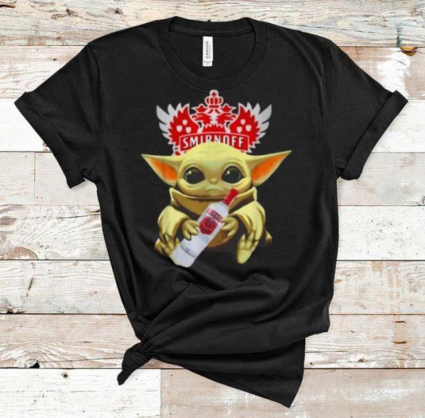 Nice Star Wars Baby Yoda Hug Smirnoff shirt