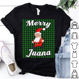 Official Marijuana Christmas Weed Stoned Santa Merry Juana sweater
