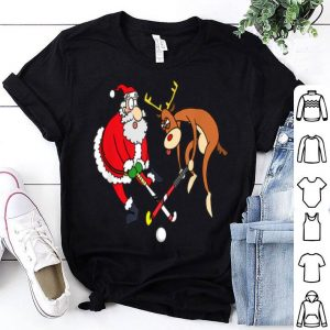 Official Santa Reindeer Field Hockey Lover Player Funny Xmas Gifts sweater