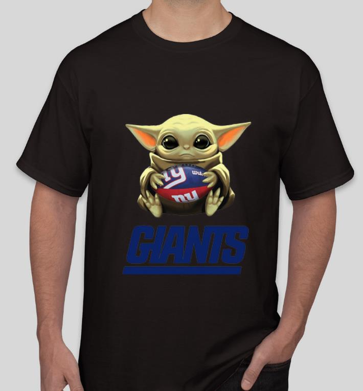 Official Star Wars Football Baby Yoda Hug New York Giants shirt 4 - Official Star Wars Football Baby Yoda Hug New York Giants shirt