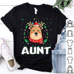 Original Cute Aunt Reindeer Santa Ugly Christmas Family Matching sweater