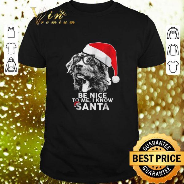 Premium Australian Shepherd Be Nice To Me I Know Santa Christmas shirt