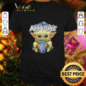 Premium Baby Yoda hug Keystone Light Star Wars Mandalorian shirt