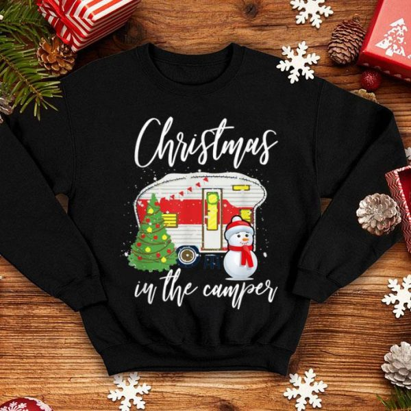Premium Christmas In The Camper Family Funny Cute Holiday Camping sweater