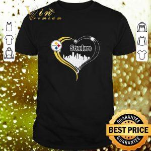 Premium Diamond Love Pittsburgh Steelers city heart shirt