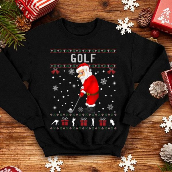 Premium Golf Santa Claus Ugly Christmas Sweater Sport Lover sweater